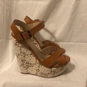 Charlotte Russe Lace Wedges